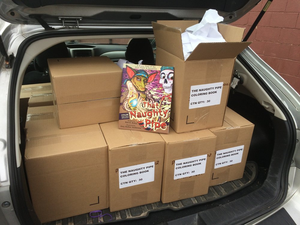 That Naughty Pipe  is ALIVE and we are getting ready to send them out to all of our amazing Kickstarter backers! If you did not get a book during the campaign, you can still get some before the holidays. Check out the   STORE   and happy coloring!