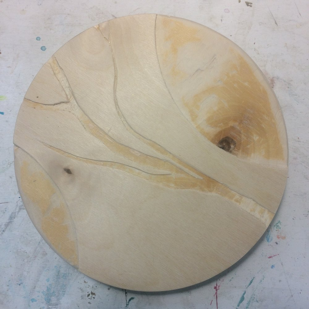 (A) Start, Carved branch and circle shapes.