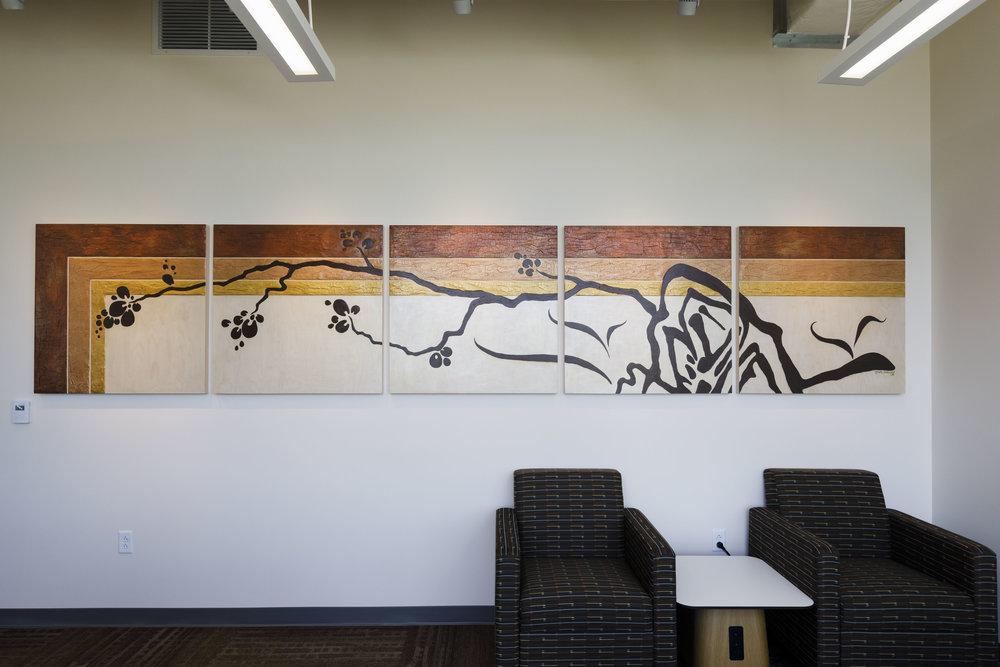 "Manabu Haiku    • 36"" x 15' • Dayton Metro Library, New Lebanon Branch"
