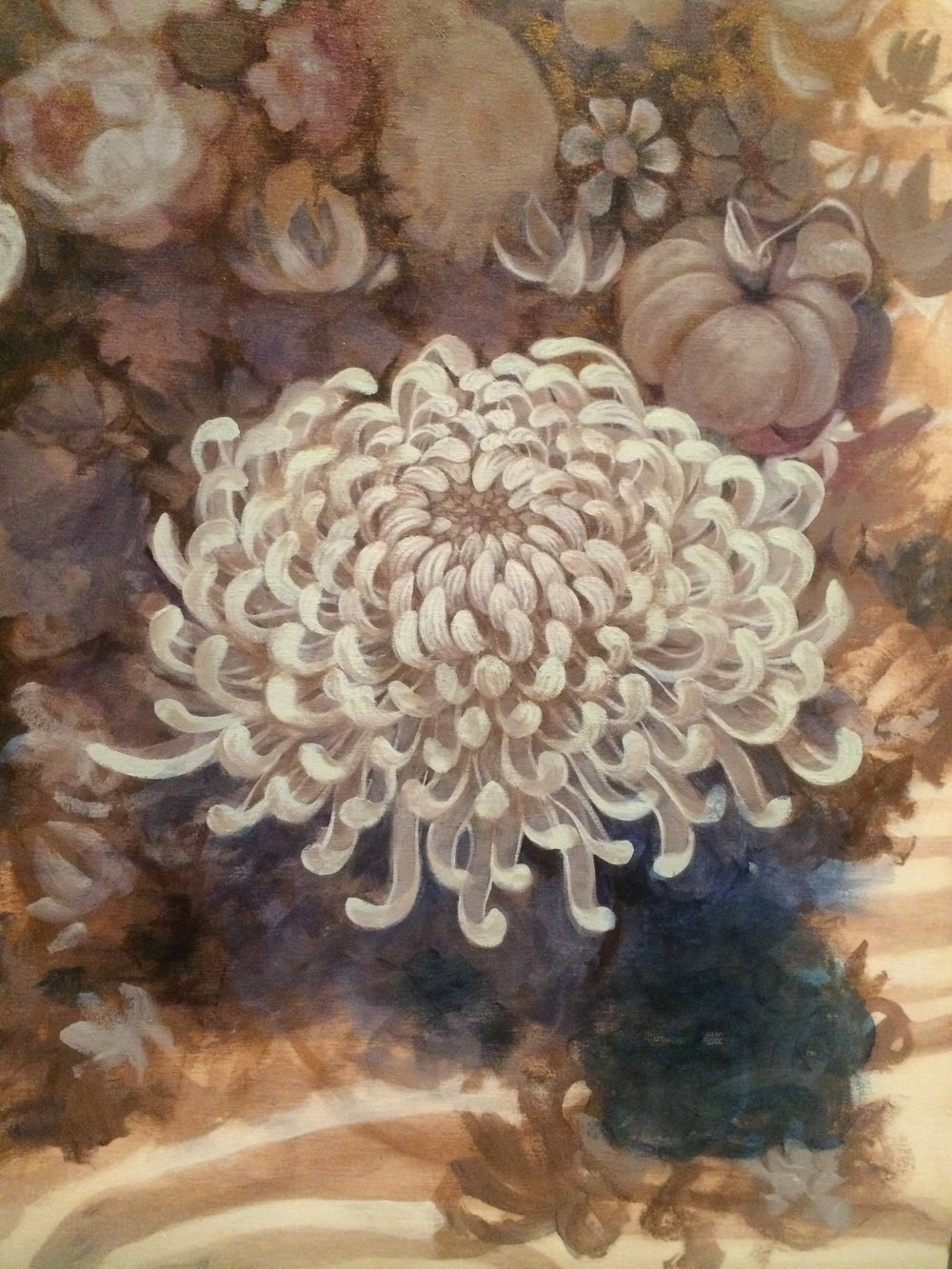 Detail of chrysanthemum.