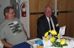 Jim Sapp, President of Albany Helping Hands Board (right)