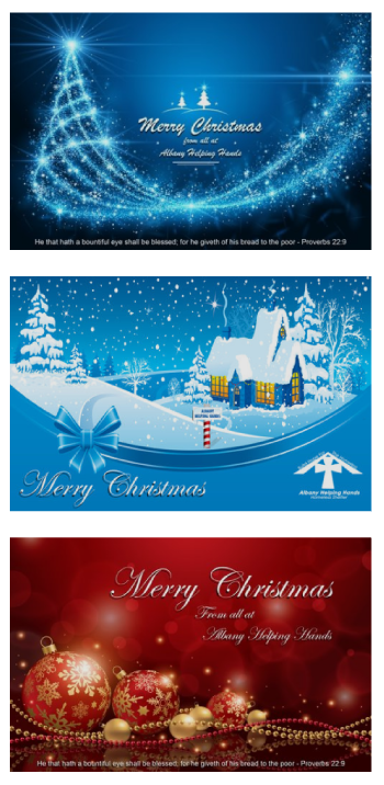 Christmas Cards Past And Presentfor printing and download. These beautiful cards were designed by AHH's Wayne Oakes.