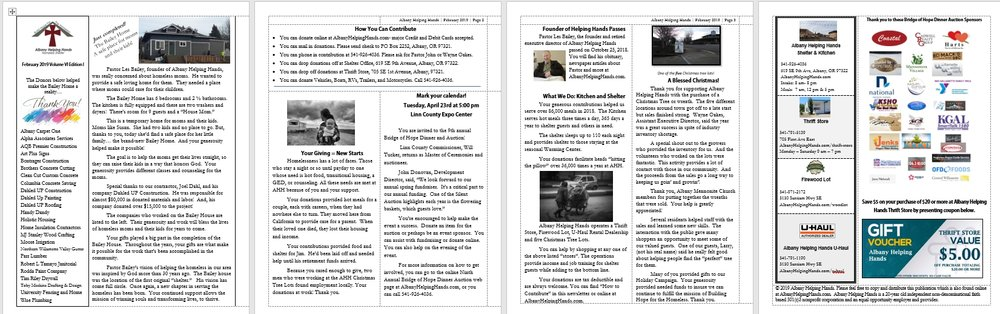 To read newsletter or to download your PDF file for printing or viewing later  click here.