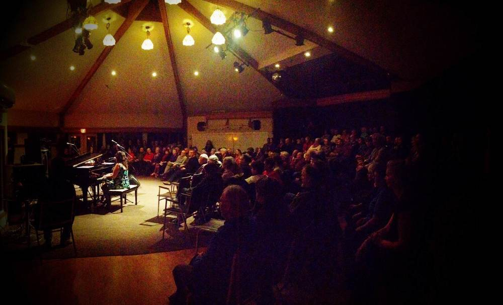 The amazing audience at the Phoenix Room, Gabriola Island. March 9, 2015