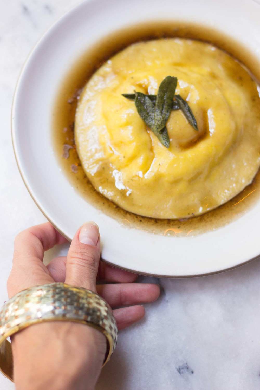 Sage Brown Buttered Raviolo