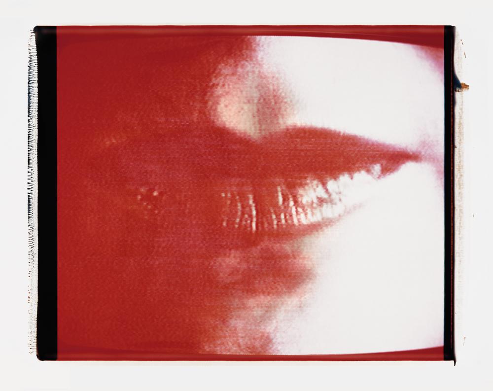 """Lips  Polaroid 20""""x24"""" 1989"""