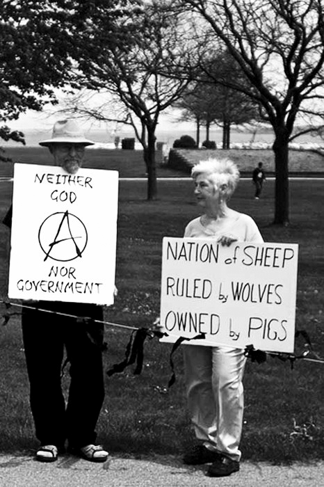 jennking :     nation of sheep    ruled by wolves   owned by pigs.   love it