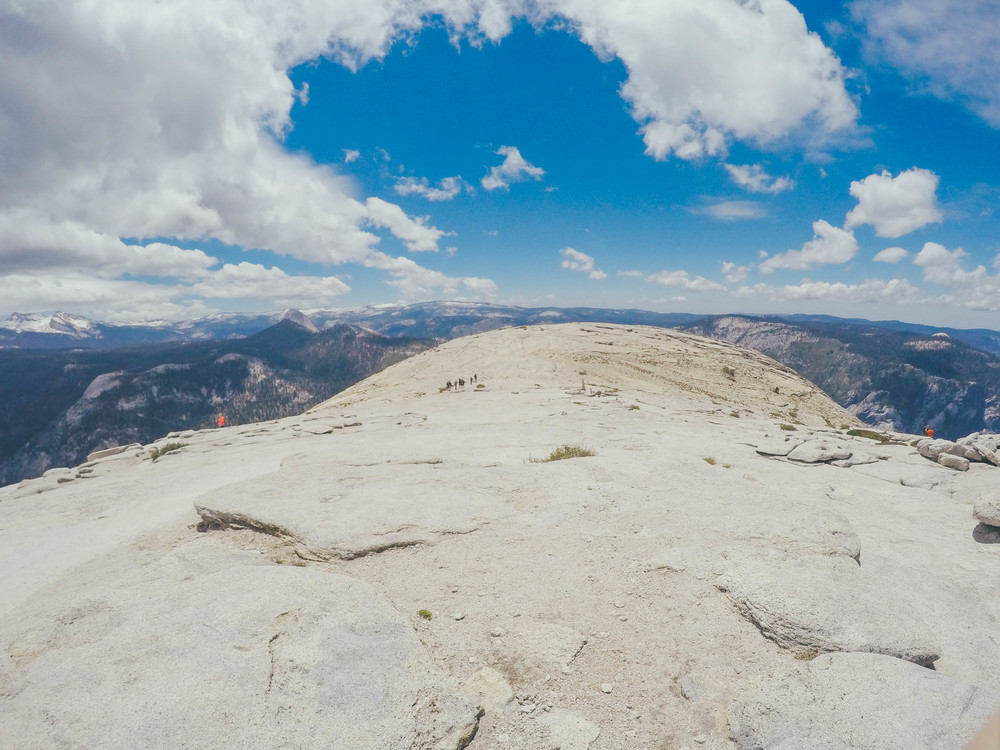 The top of Half Dome is surprisingly...plain. No restaurants up here.