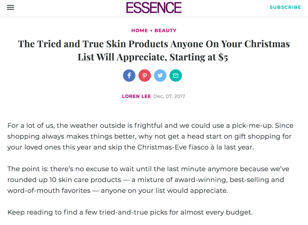 Christmas Skin Care Gift Guide Starting at $5 by Loren Lee - Essence.png