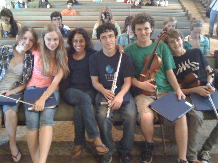 With students from Austin Chamber Music Center