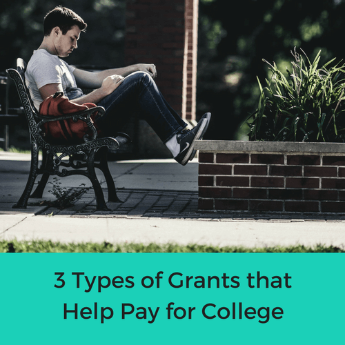 The three types of grants are federal, state, and college/university grants. These grants are free money available to help pay for college.