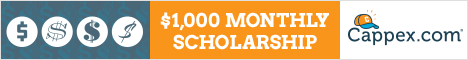Enter to Win A $1,000 Monthly Scholarship. You can Enter Each Month to Win $1,000 with Cappex.