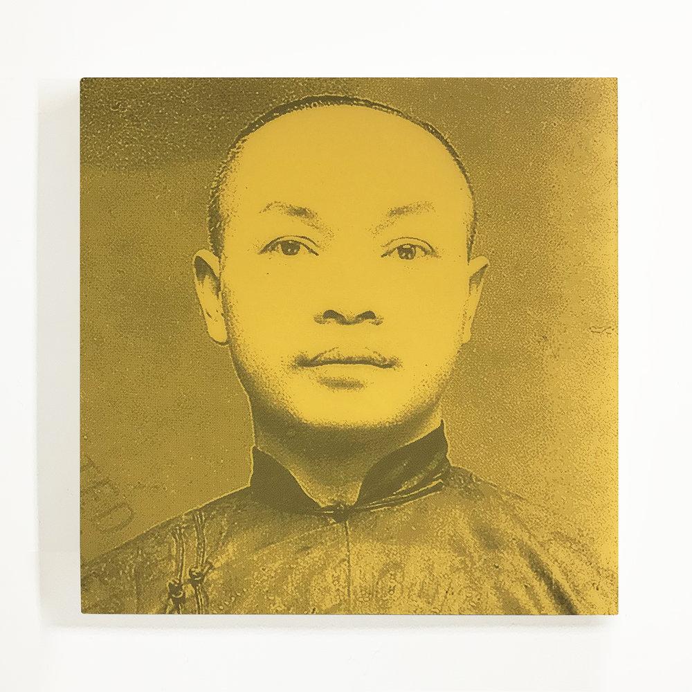 Wong Ark Kim, Silkscreen on Acrylic Mirror, 2018