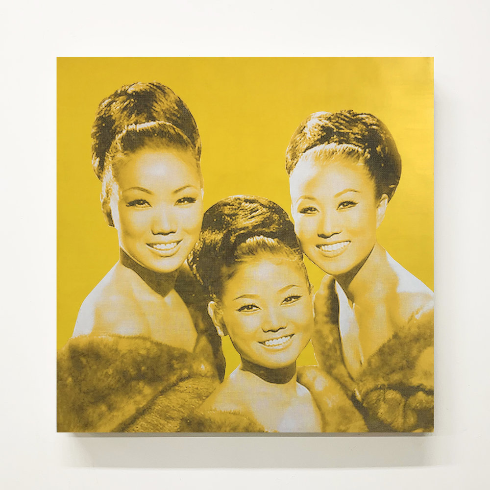 The Kim Sisters, Silkscreen on Panel, 2018