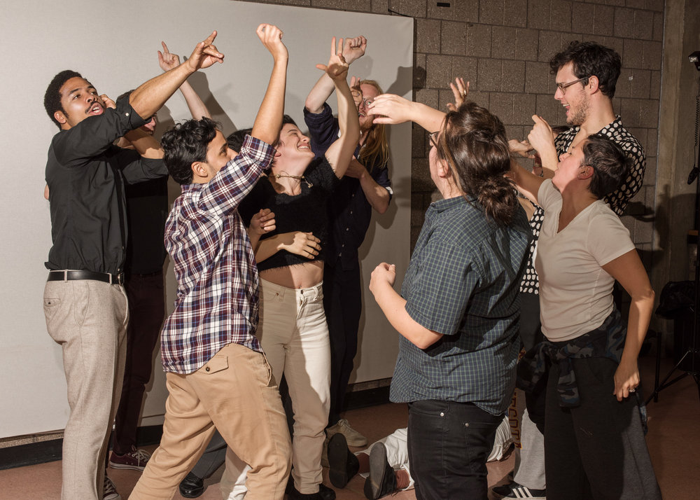 Queer Art of Improv: An 8-week class taught by Alex Schmidt + Lily Marotta as part of a School of Making Thinking Residency at Abrons Art Center, NY
