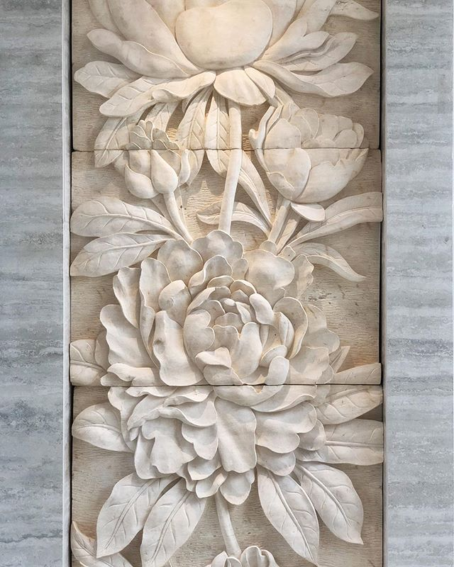 #peonies at The Peony #exhalegroup #architecture #interiordesign #sandstone #carving #bali