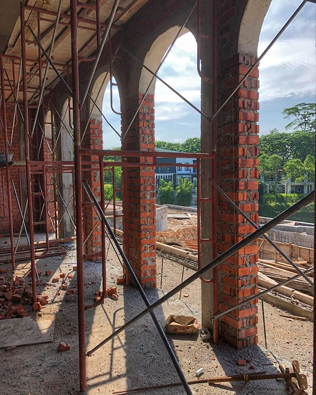 Doesn't get more #classic than a rhythm of #arches !! #exhalegroup  #architecture #construction #classicslarchitecture #proportion #onsite #building