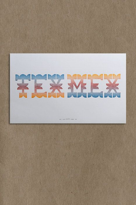Letterpressed Tex Mex by Lilco Press