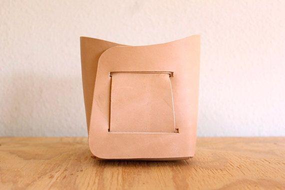 Leather Bin by Gildem
