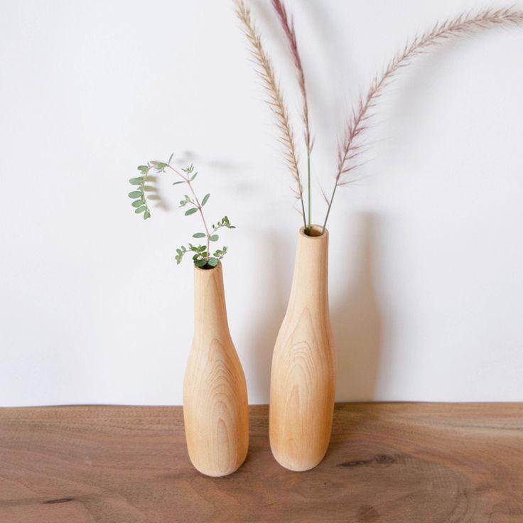 Maple bud vases by Pastrana Studio