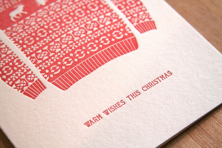 Letterpressed Christmas cards by the Grove Street Press