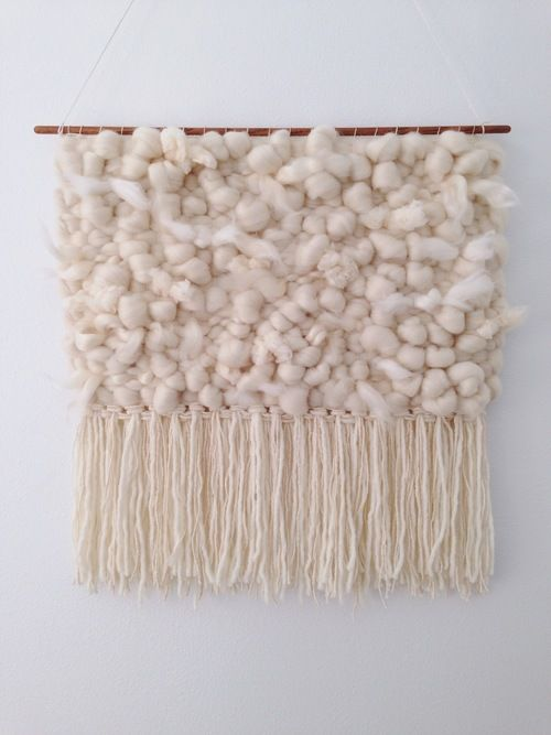 Woven wall hangings by Woven Laine