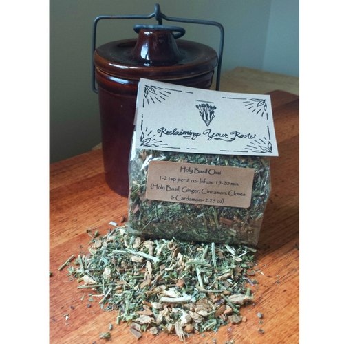 holy basil chai by reclaiming your roots