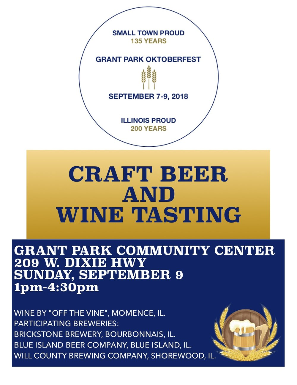 Join us Sunday at Oktoberfest for our Craft Beer & Wine Tasting.