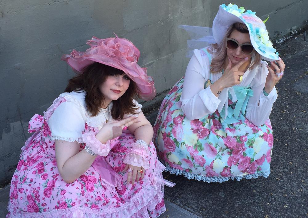 Portland lolita fashion at the Kentucky Derby