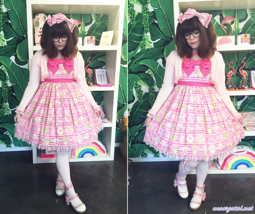 Wearing Angelic Pretty's Whip Magic lolita set.