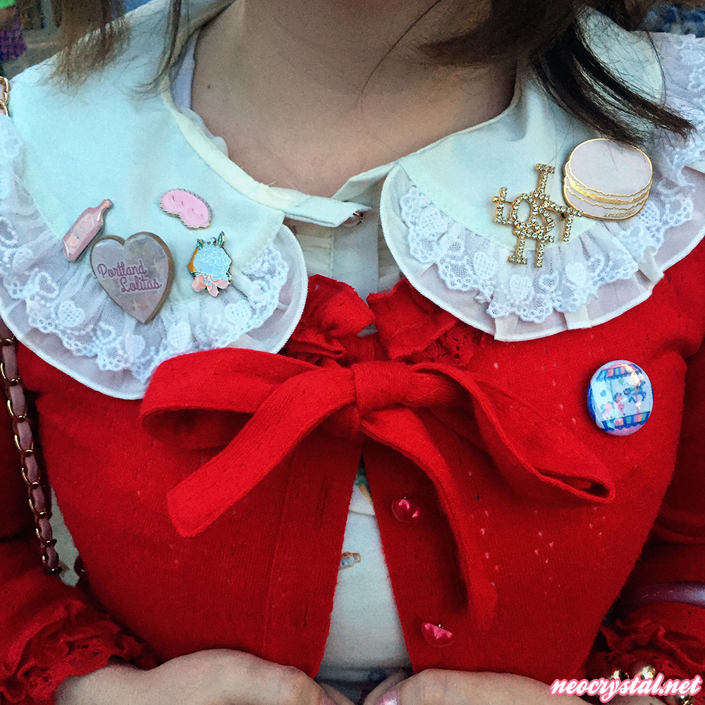 lolita fashion and enamel pins