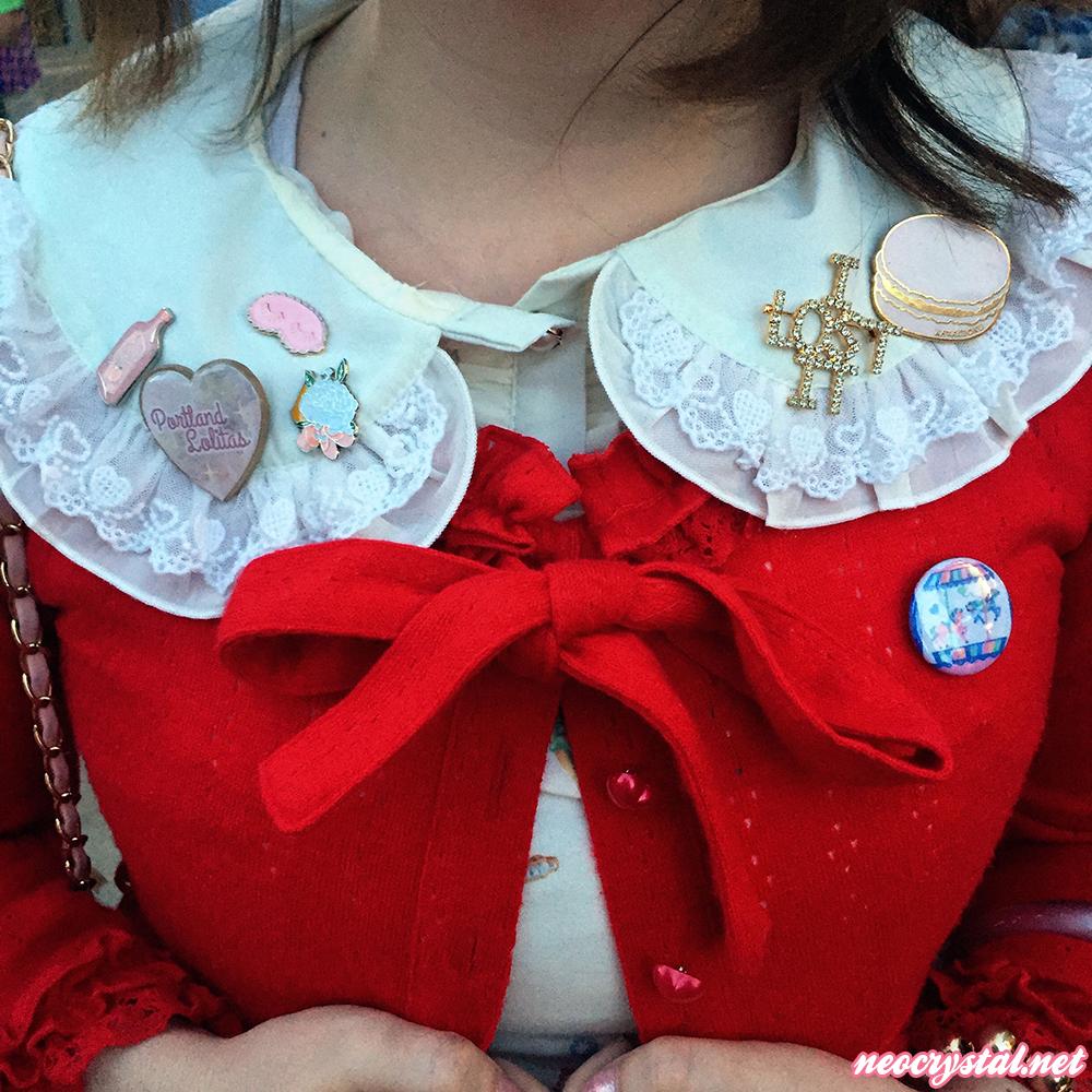 lolita fashion and enamel pins
