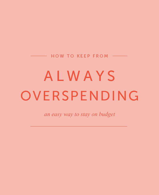Envelope method to keep from overspending