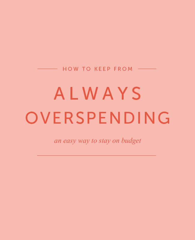 Envelope method to keep from overspending