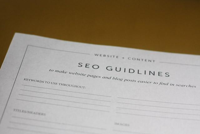 Free SEO Guidelines printable worksheet