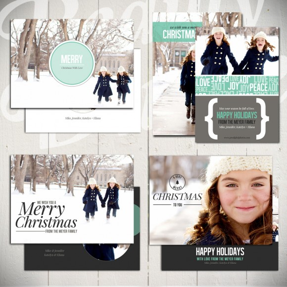 Christmas Card Template Holiday Card Template