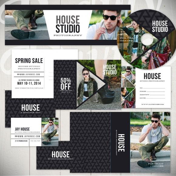 Photography marketing set templates