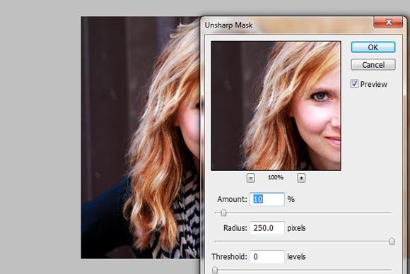 Unsharp Mask Photo Edit