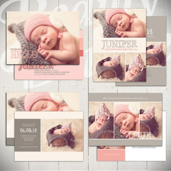 baby announcement templates - little heart