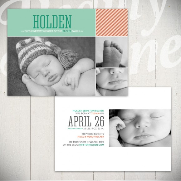 birth announcement templates - fresh start