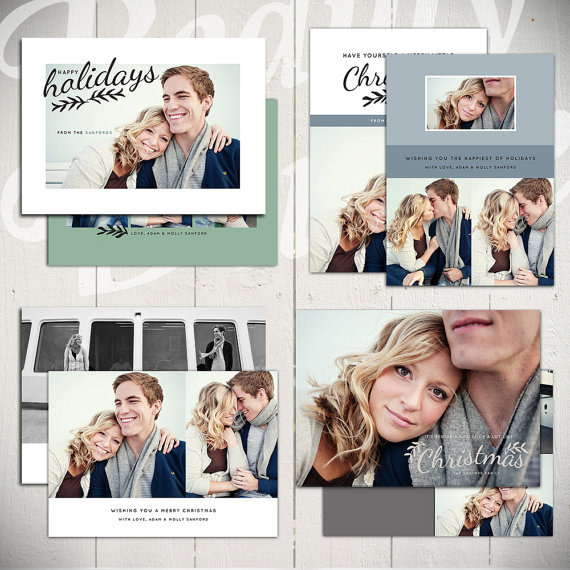 Christmas Card Templates - Evergreen