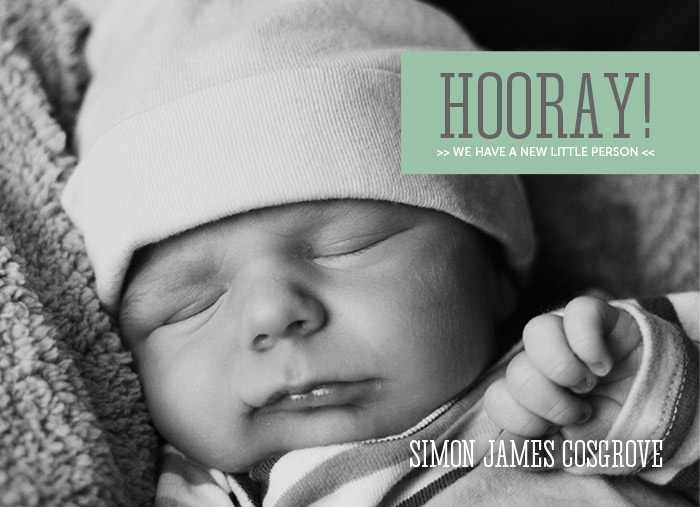 Birth Announcement Template by Laurie Cosgrove Design