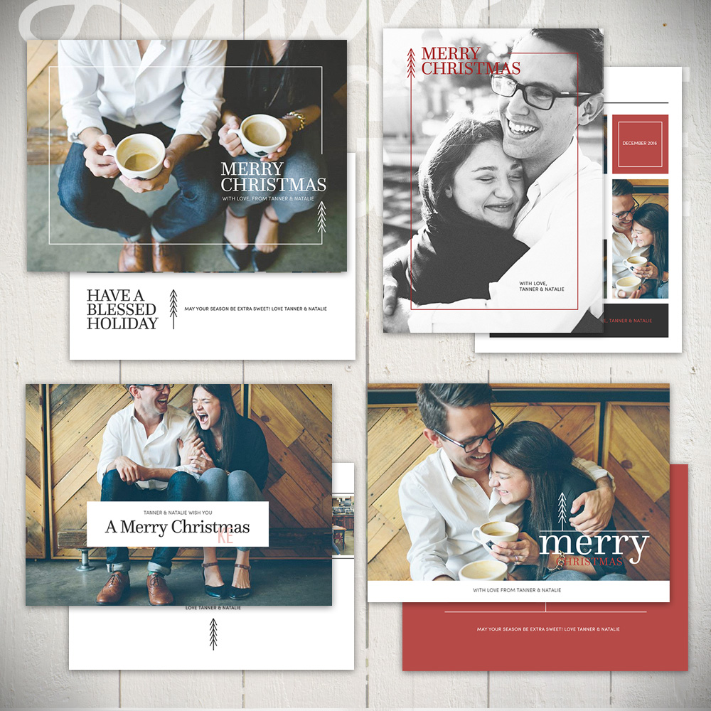 Christmas Card Templates by Laurie Cosgrove Design - Urban Holiday