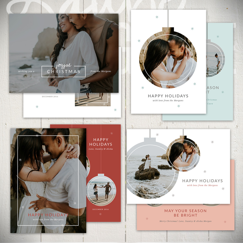Christmas Card Templates by Laurie Cosgrove Design - Ornamental