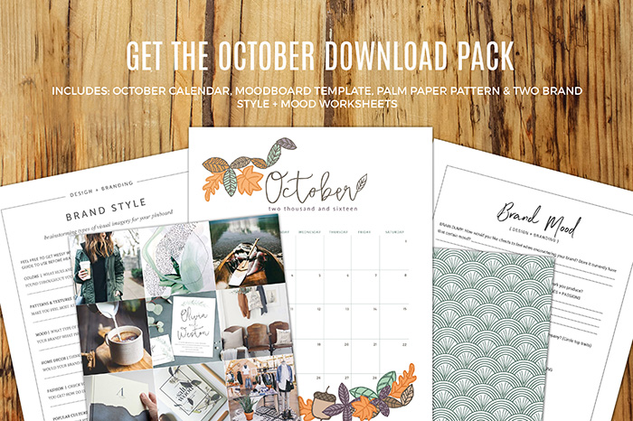 October Download Pack Freebie
