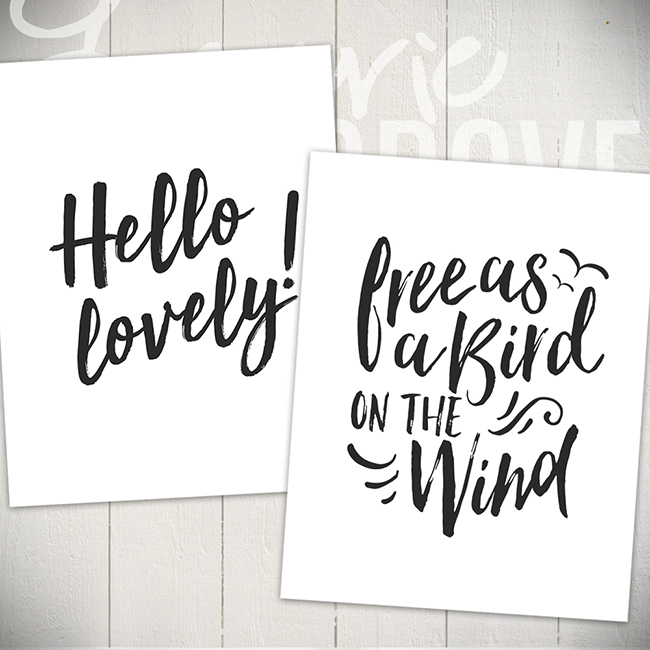 Typography Wall Art Prints