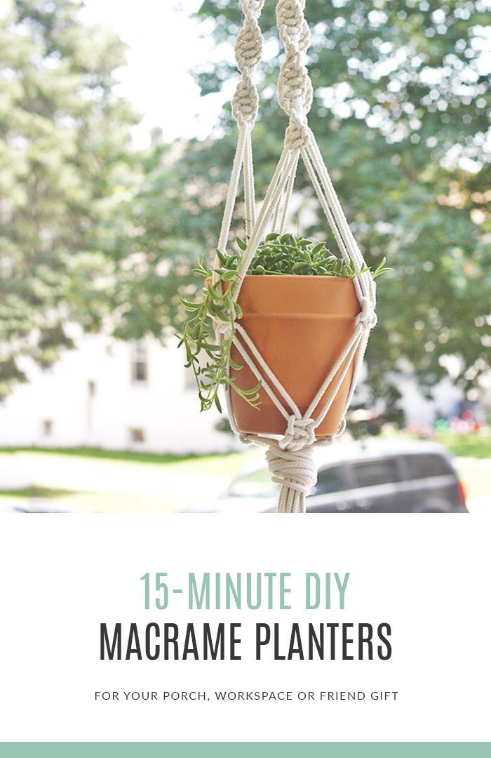15 Minute DIY Macrame Plant Hangers
