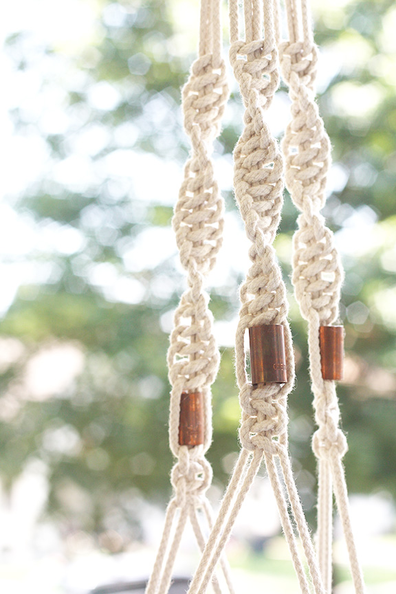 Macrame Planter Copper Couplings