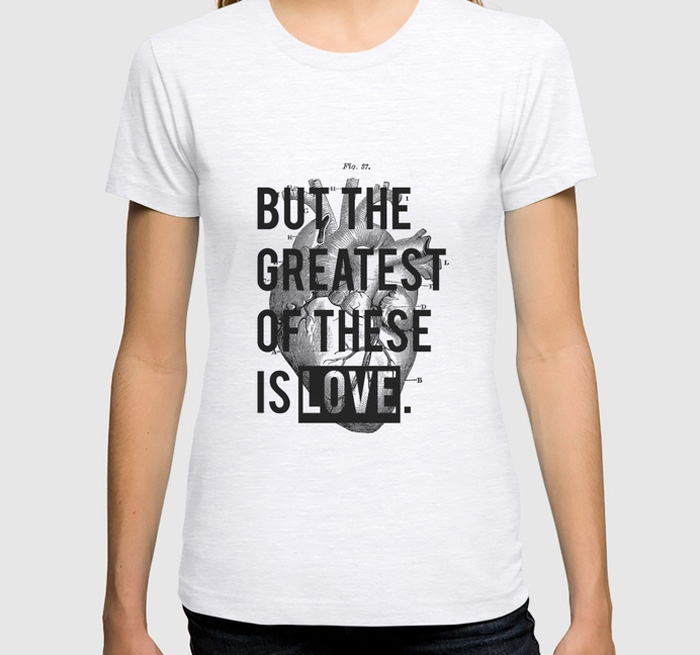 Society 6 - Heart Tee by Ink-Prince