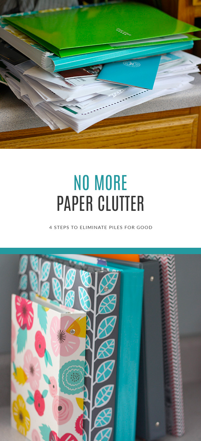 4 Steps to No More Paper Clutter